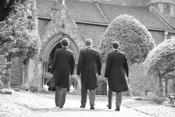 Groom arriving at the church